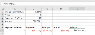 loan formulas loan amortization schedule in excel easy excel tutorial