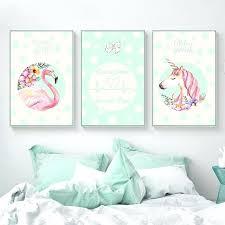 unicorn wall decorations girls gift unicorn flamingo canvas posters and prints minimalist painting wall art picture unicorn wall decorations
