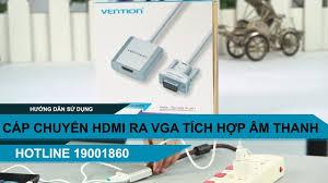Cáp chuyển VGA ra cổng HDMI có tích hợp dây audio 3.5mm Vention ACEW0 -  YouTube