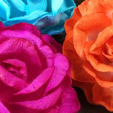 Flower Made In Paper Hand Made Paper Flowers For Wedding Embellishment Of Cards Favour Boxes
