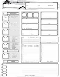 dungeons and dragons character sheet online dungeons dragons 5th edition character sheet characters rpg and