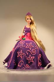 Purple Tangled Doll Fondant Birthday Cake Pennys Food Blog