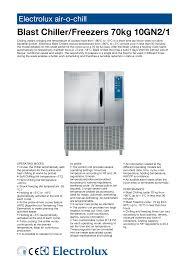 Blast Freezer Design Manual Electrolux Freezer 10gn2 1 User Manual Manualzz Com