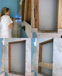 attach shower niche into the studs after removing the top cement board