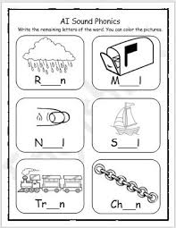 This page features j, k and l. Ai Sound Phonics Words Worksheet Englishbix