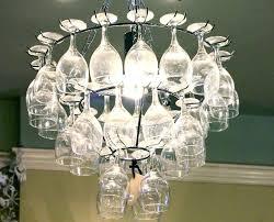 chandelier wine glass chandelier wine glass holder