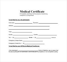 Sickness Certificate Format 11 Medical Certificate Templates For Leave Pdf Doc Free