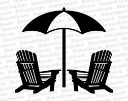 adirondack chair silhouette. Simple Silhouette Beach Chair SVG Files DXF Cut Cutting  Cuttable Svg Dxf Cricut Instant Download Intended Adirondack Silhouette R