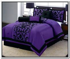 black damask comforter contemporary minimalist bedroom design with dark purple black damask queen bedding comforter sets modern black
