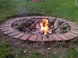 image of brick diy outdoor fire pit