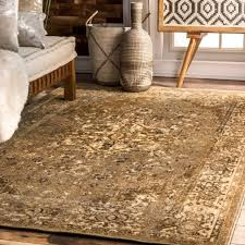nuloom persian overdyed vintage traditional distressed area rug in natural tan