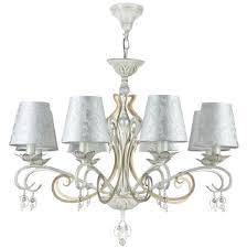 Casa Padrino Barock Kronleuchter Antik Weiß Gold Silber ø 76 X H 59 Cm Prunkvoller Kronleuchter Mit Dekorativen Perlen