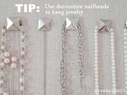 Decorative Nail Heads Livelovediy Diy Corkboard Jewelry Organizer