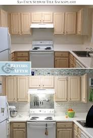 Painting Kitchen Tile Backsplash Beauteous 48 Faux Subway Tile Painted Backsplash Tutorial