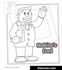 This beautiful, digital drawing is ready to be printed on your favourite paper. Nobita Dad Kizi Free 2021 Printable Super Coloring Pages For Children Coloring Pages