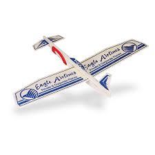 promotional 12 balsa wooden canard airplane glider