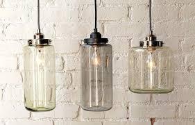 glass jar pendant lights light large