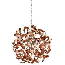 lyndsay 4 light pendant ceiling light copper