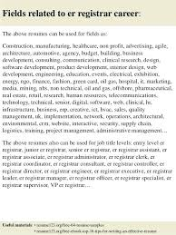 Associate Registrar Sample Resume Awesome Example Of Registrar Resume Also Sample Er Nurse Resume Emergency