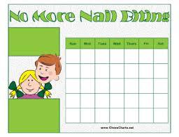 Printable Nail Biting Chart