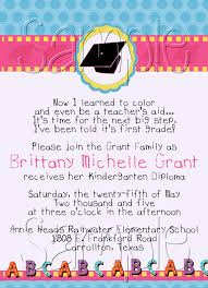 sample graduation invitations preschool graduation invitations dancemomsinfo com