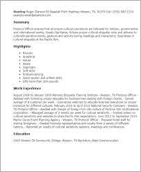 Resume Templates: Protocol Officer