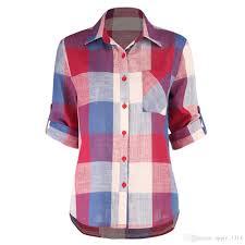 Panel Shirt Design Ladies 2019 S 5xl Plaid Panel Raglan Sleeve T Shirt For Women Autumn Lady Plus Size Casual Shirt Plaid Causal Designer T Shirt Printed Blouse 2018 New From