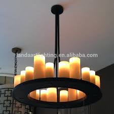 faux pillar candle chandelier lighting