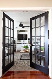 Black interior doors with white trim before and after interior top notch  black french doors the