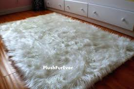faux fur rug 4 x 5 luxury black brown white long sheepskin gy style assorted color