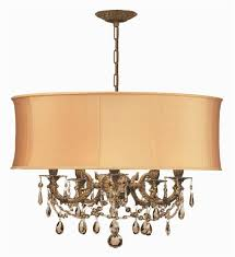 ornate casted aged brass chandelier w strass crystal