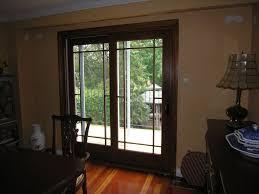 distinctive french style door of andersen with dark wooden frame and exclusive glass screen for exterior door