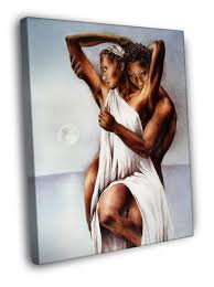 african american love hot painting art framed canvas