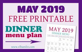Free Printable Menu Plan Archives Food Life Design