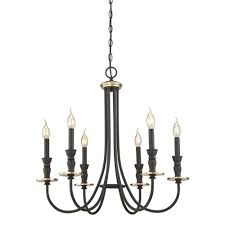 westinghouse cresting 6 light oil rubbed bronze with antique brass accents chandelier