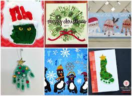 Fingerprint Christmas Tree Cards With TemplatesEasy Toddler Christmas Crafts