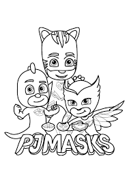 Pj Masks For Kids Pj Masks Kids Coloring Pages