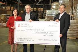 images ally financial ally financial from left natalie jayroe of second harvest david wescott of nada and tim russi of ally financial present check to second harvest food bank of new orleans