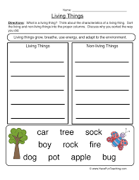 Venn Diagram Living And Nonliving Things Living And Non Living Things Resources Have Fun Teaching