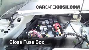 replace a fuse 2003 2007 cadillac cts 2006 cadillac cts 3 6l v6 6 replace cover secure the cover and test component