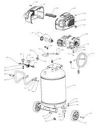 Craftsman air pressor parts diagram lovely craftsman parts list