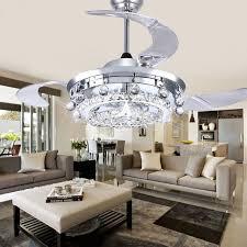dining room crystal chandelier. LED Fan Crystal Chandelier Dining Room Living Droplights Modern Wall/Remote Control I