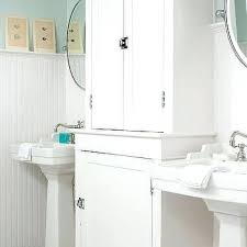 Beadboard Bathroom Walls White