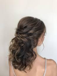Bridal Hair Half Up Half Down Hair And Makeup In 2019 Bridal