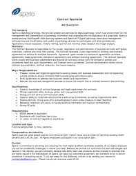 government contract specialist resume  best create professional
