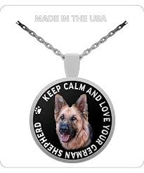 countrywide gifts keep calm and love your german shepherd dog pendant necklace gift for german shepherd