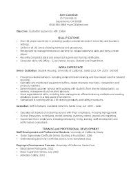 Custodian Resume Sample Custodian Resume Sample Resume Templates For ...