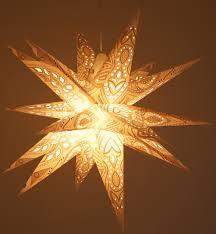 Faltbarer Advents Leucht Papierstern 3d Weihnachtsstern