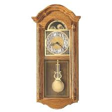westminster chime wall clock with pendulum movement