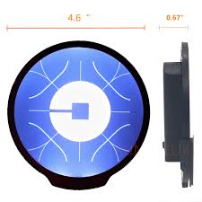 Uber Light Amazon Uber Light Sign Logo Sticker Decal Reflective Bright Glowing Wireless Removable New Uber Sign Logo Decal Flashing Car Cycle Sticker White Light Uber
